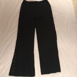 Dressy pants with beaded side trim